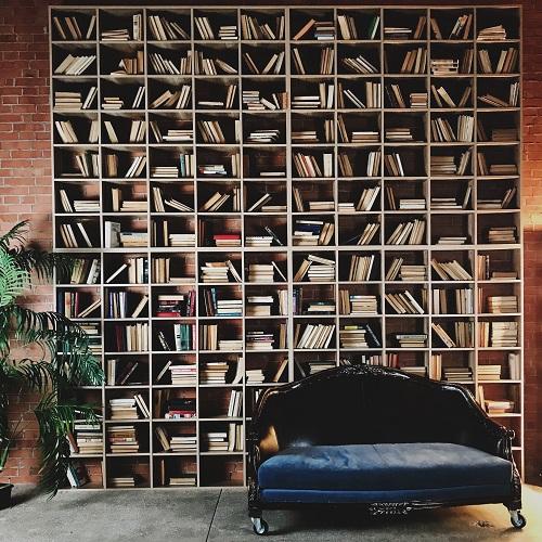 bibliothèque de style contemporain
